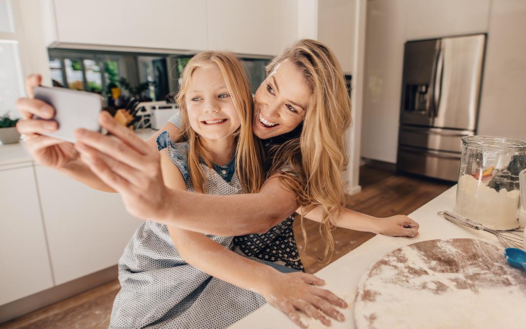 Foto dei figli sui social